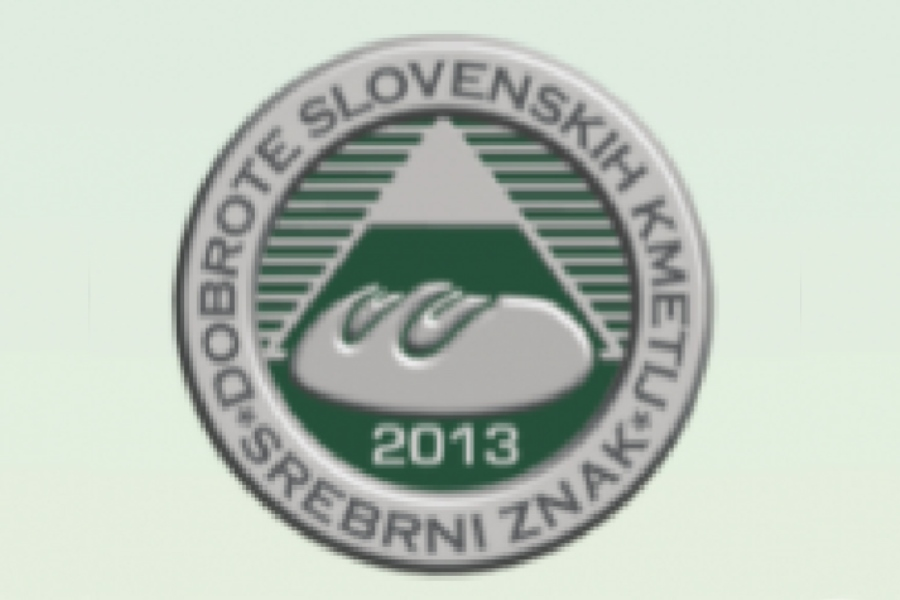 Prodnik Inn Silver Award Delicacies of Slovenian Farms 2013
